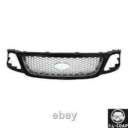 1 Piece Black Grille With Honeycomb Insert For 99-04 Ford F150 F250 Lightduty
