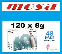 120 MOSA Cream Chargers Dispenser NOS N2O cannister FREE DELIVERY