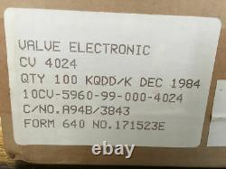 12at7wa Cv4024 Ecc81 M8162 Mullard Nos Boxed Matched Quad