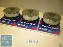1966 Pontiac GTO / LeMans & Oldsmobile 442 Tri-Power Filter Set Like NOS GM