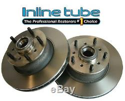1967-70 GM Front Disc Brake Two Part Factory Stock Rotor 2pc Style Caliper Pair