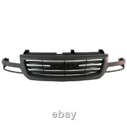 AM New Front Dark Gray Grille Assembly For 03-07 GMC Sierra Pickup 1500 2500