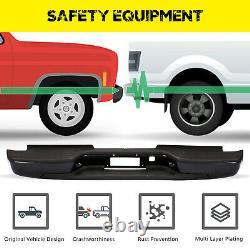 AM Rear Step Bumper Assembly For 01-06 Chevy Silverado 2500 HD Sierra 3500 Black