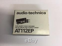 AUDIO-TECHNICA AT-112EP Phono CARTRIDGE + P-MOUNT ADAPTER NEW OLD STOCK