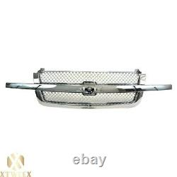 All Chrome Front Grille Grill For 03-06 Chevy Silverado Pick up Truck 1500 New