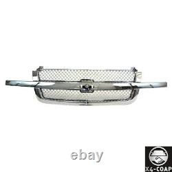 All Chromed Grille For Chevrolet Silverado 1500 2500 3500 Avalanche Pickup Truck