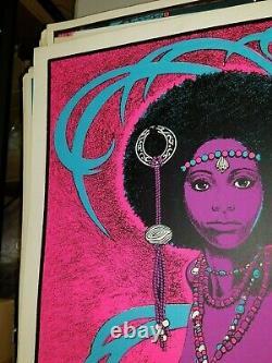 BLACK VENUS 1970's VINTAGE BLACKLIGHT NOS POSTER SEXY MOMMA -NICE