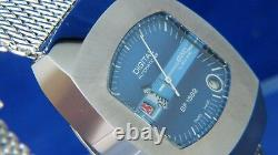 BWC Automatic 24HR Jump Hour Swiss Watch Vintage Circa 70s NOS, Serviced BF 1582