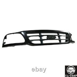 Black Front Grille withBar For 99-03 Ford F150 Pickup Truck 04 Hertiage FO1200376