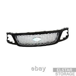 Black Grille with Honeycomb Insert Fits 1999-2004 Ford F150 F250 Pickup Light Duty