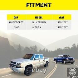 Black Rear Step Bumper Assembly Fit 1999-2007 Sierra Silverado 2500 3500 Truck