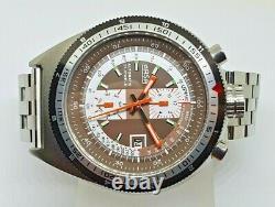 Bullhead ARSA NOS-Style Automatikuhr watch Tachymeterskala Retro massiv
