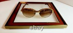 Cartier Malmaison Sunglasses Vintage Bubinga Wood 18k Gold Giverny Bagatelle NOS