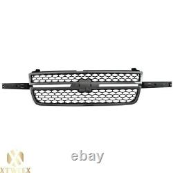 Chrome Honeycomb SS Style Front Grille Assembly For 03-07 Chevy Silverado 1500