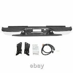 Complete Chrome Rear Step Bumper For 1999-2007 Chevy Silverado 2500 HD 3500