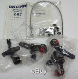 Dia Compe 987 Cantileverbremsen, VR+HR, made in Japan, schwarz, NEU, NOS, Retro