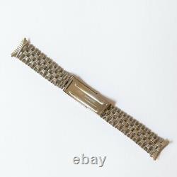 Double Beads Of Rice Steel Vintage Bracelet Heuer Camaro Rare 19mm NOS