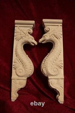 Dragon Corbel/bracket, Large Wooden carved wall decor, Kitchen island. Fireplace