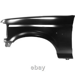 Fender For 92-97 Ford F-150 F-250 Front LH Primed Steel with Emblem Provision CAPA