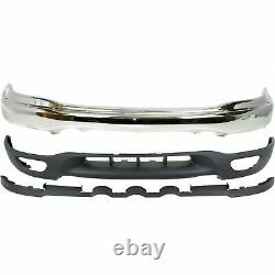 Front Bumper Chrome + Lower Valance For 1999-2003 Ford F-150 / 99-02 Expedition