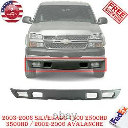 Front Bumper Lower Cover Valance Texture For 2002-2006 Chevy Silverado 1500-3500