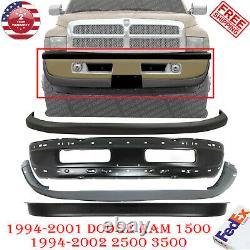 Front Bumper Primed Steel Kit For 1994-2001 Dodge Ram 1500/ 1994-2002 2500 3500