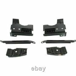 Front Chrome Steel Bumper with Brackets + Valance For 03-06 GMC Sierra 1500 3500