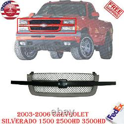 Front Grille Primed with Center Bar For 2003 2006 Chevy Silverado 1500