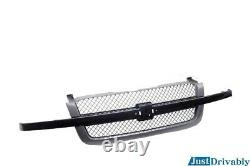 Front Grille withGray Insert For 03 04 05 06 07 Silverado 1500 2500 3500 Truck New
