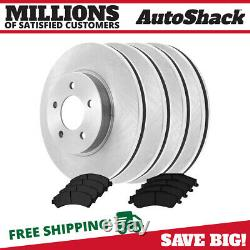 Front & Rear Disc Brake Rotors & Ceramic Pads Kit for Chevy Blazer S10 GMC Jimmy