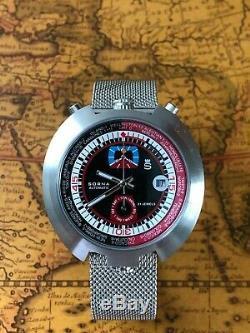 GMT Sorna Automatikuhr Racing Retro Bullhead Watch Milanaiseband NOS Style