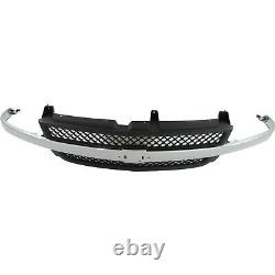 Grille 01-02 For Chevy Silverado 1500/2500 HD Black shell withChrome Bar Old Body