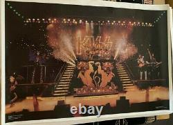Kiss Vintage 1977 77 Alive II Ace Peter Gene Paul Nos Aucoin Mgt Live Poster N/m