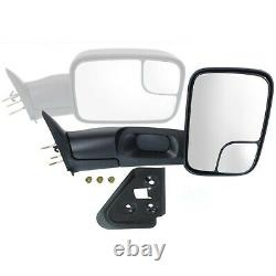 Manual Mirror Set Of 2 For 1994-2001 Dodge Ram 1500 Towing Manual Folding Black