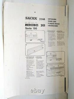Mercedes Benz W201 E190 Tail Panel Heckblende Brand SACEX. Italy. NOS. RARE