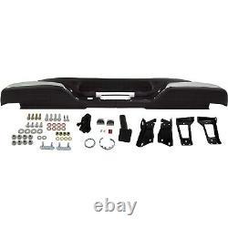 NEW Chrome Complete Rear Bumper for 1999-2007 Chevy Silverado Sierra 2500HD 3500