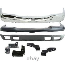 NEW Chrome Steel Front Bumper Kit For 2003-2007 Chevy Silverado 2500HD 3500