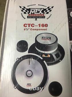 NEW Old School MTX Audio CTC-160 6.5 2-way Component Speakers, RARE, NOS, NIB