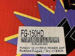 NEW Old School Rockford Fosgate Punch 150 2 channel amplifier, rare, NOS, NIB, USA