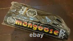 NOS BMX MONGOOSE PAD SET in BLACK 1984 CALIFORNIAN PRO CLASS GENUINE 84