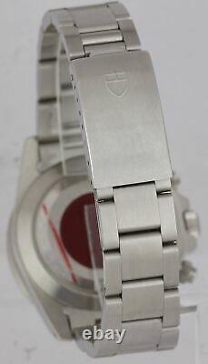 NOS LNIB Tudor OysterDate Chronograph BIG BLOCK'ALBINO' 79180 Stainless Watch