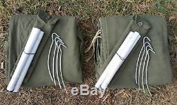 NOS MILITARY TENT 2-PERSON x2 PONCHO LAAVU SHELTER TARP HALF TIPI POLISH ARMY