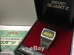 NOS Mint SEIKO 0624 5000 1974 LC Quartz LCD Digital watch Lemon 06LCA Uhr MOT