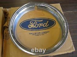 NOS OEM Ford 1966 Mustang + Fairlane Styled Steel Wheel Trim Rings GT 14