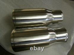 NOS OEM Roush Exhaust Tips 3 Inlet Ford Mustang F150 2004 2005 2007 2008 Truck