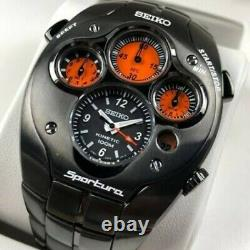 NOS Seiko SLQ019 Sportura Kinetic Limited Edition Chronograph 9T82-0AF0 Titanium