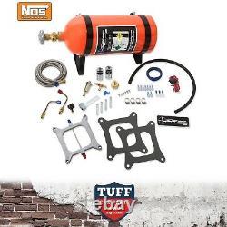 NOS Sniper Wet Nitrous Oxide Kit 100-150hp 4 Barrel Carb Carburettor Sq Bore New