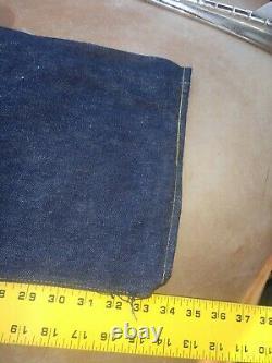 NOS Vintage 50's LEVIS 501XX Big E DENIM JEANS Hidden Rivet 36x36 selvedge 501