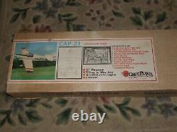 NOS Vintage GREAT PLANES 72 CAP 21 SCALE MODEL AIRPLANE KIT