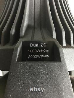 New Diamond audio Hex Pro 15 competition subwoofer, Rare, NOS, Dual 2 Ohm, SQ